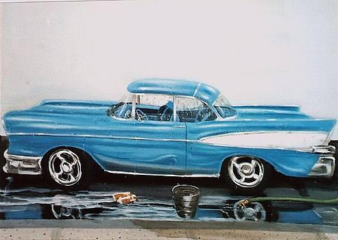 1957 Bel air by Susan Roberts