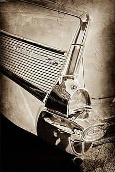1957 Chevrolet Belair Taillight Emblem -0487s by Jill Reger