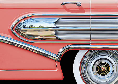 1958 Buick Side Chrome Bullet by David Kyte
