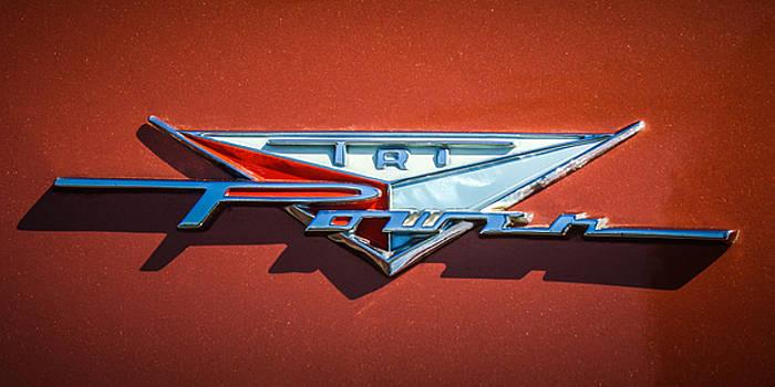 Jill Reger - 1958 Pontiac Bonneville Tri Power Emblem -014c