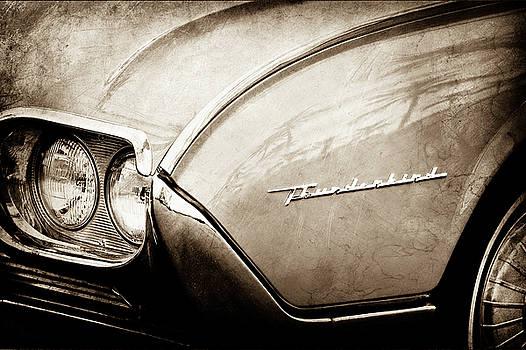 1961 Ford Thunderbird Emblem -0177s by Jill Reger