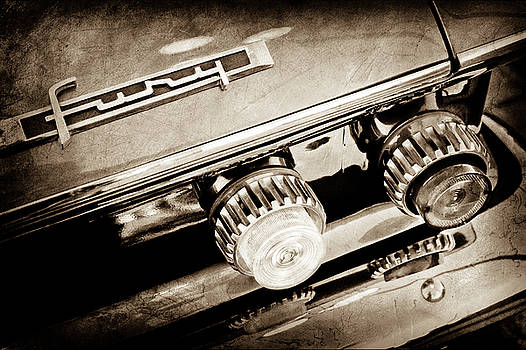 1962 Plymouth Fury Taillight Emblem -0458s by Jill Reger