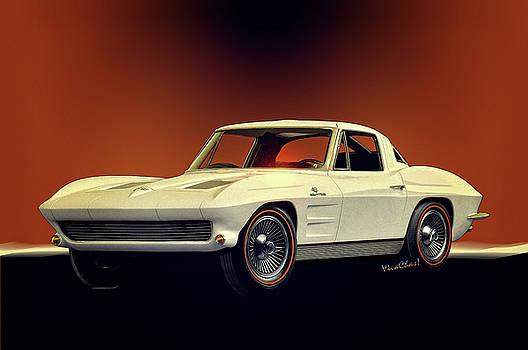 1963 Corvette 2nd Generation by Chas Sinklier