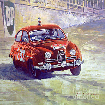 1963 SAAB 96 #283  Rallye Monte Carlo  Carlsson Palm winner by Yuriy Shevchuk
