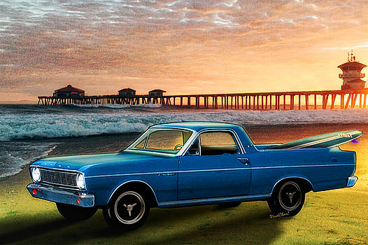 1966 Ford Ranchero at the Pier by Chas Sinklier