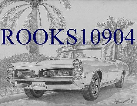 1967 Pontiac GTO Convertible MUSCLE CAR ART PRINT by Stephen Rooks