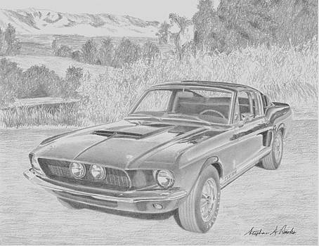 1967 Shelby Mustang GT-350 CAR ART PRINT by Stephen Rooks