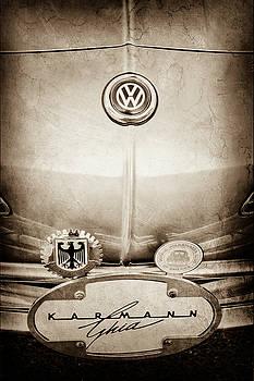 1967 Volkswagen VW Karmann Ghia Emblems -0058s by Jill Reger