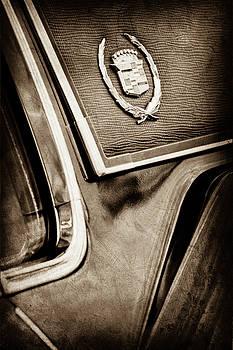 1969 Cadillac Eldorado Emblem -0275s by Jill Reger