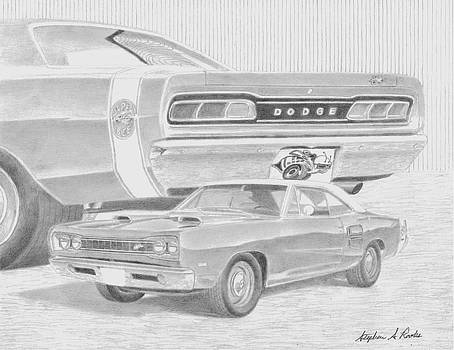 1969 Dodge Super Bee MUSCLE CAR ART PRINT      by Stephen Rooks