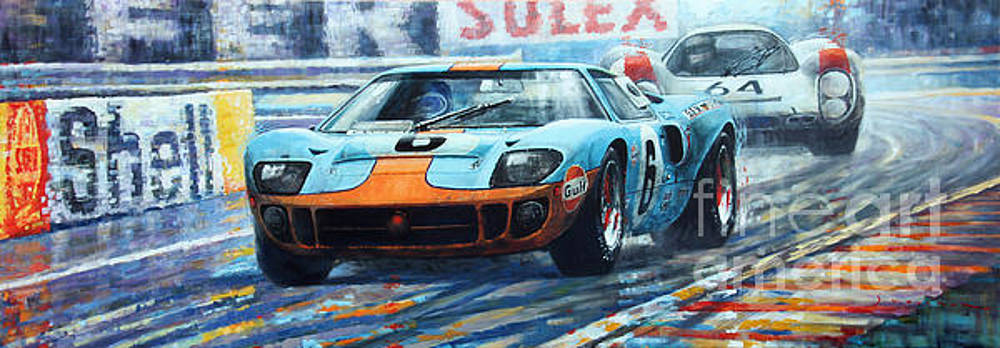 1969 Le Mans 24 Ford GT 40 Ickx Oliver Winner  by Yuriy Shevchuk