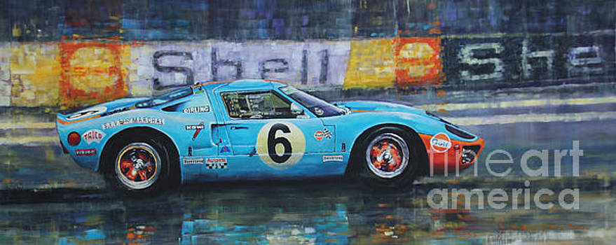 1969 Le Mans 24 Ford GT40 Jacky Ickx Jackie Oliver winner by Yuriy Shevchuk
