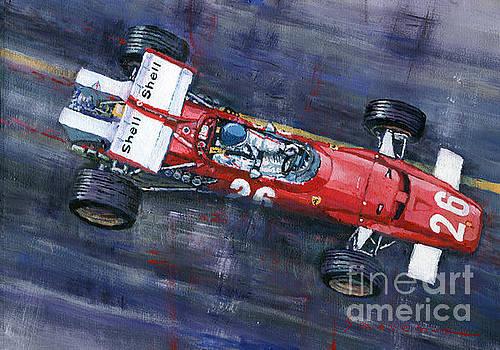 1970 Monaco GP Ferrari 312 B Jacky Ickx  by Yuriy Shevchuk