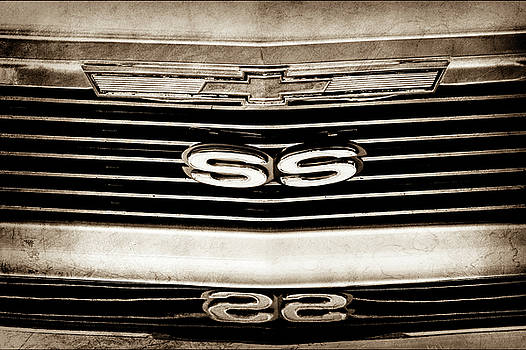 1971 Chevrolet Nova SS350 Grille Emblem -0372s by Jill Reger