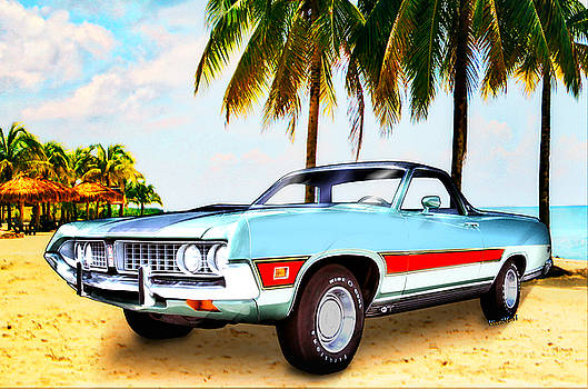 1971 Ford Ranchero at Three Palms - 5th Generation of Ranchero by Chas Sinklier
