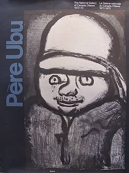 1972 Original Canadian Exhibition Poster for National Gallery of Canada, Pere Ubu by Georges Rouault by Georges Rouault