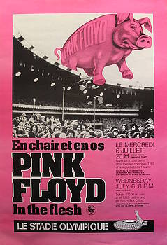 1977 Pink Floyd Concert Poster, In the Flesh at Montreal Olympic Stadium by Unknown