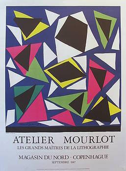1987 Original Matisse Exhibition Poster, Atelier Mourlot Cut Outs by Henri Matisse