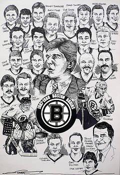 1988 Boston Bruins Newspaper Poster by Dave Olsen