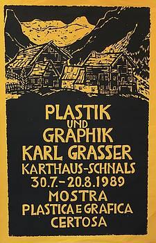 1989 Italian Exhibition Poster by Karl Grasser