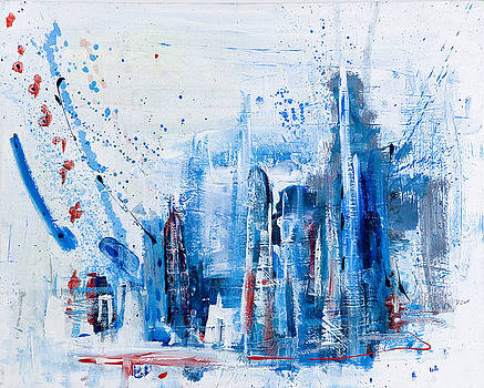 1st Place 2017 CityScapes Art Exhibition - New City, Too by Keith Kimmel