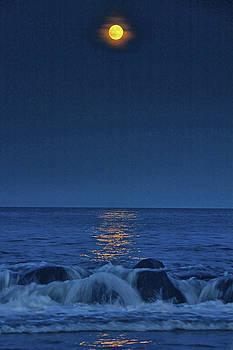 Raymond Salani III - Allenhurst Beach Full Moon Rise