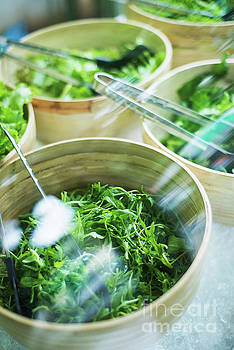Bowls Of Salad Keaves by Jacek Malipan