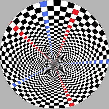 Checkered Wheel by Gabe Art Inc