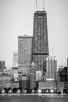 Paul Velgos - Chicago Hancock Building Black and White Picture