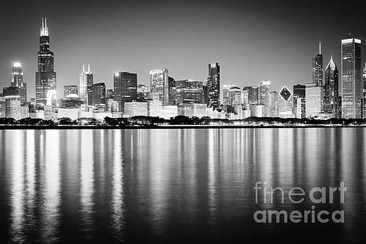 Paul Velgos - Chicago Skyline Black and White Photo