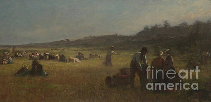 Cranberry Pickers by Eastman Johnson
