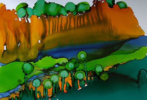 Exotic Landscape # 53. by Sima Amid Wewetzer