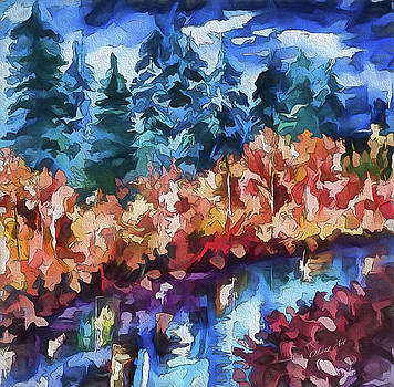 Fall in the Rockies by OLenaArt Lena Owens