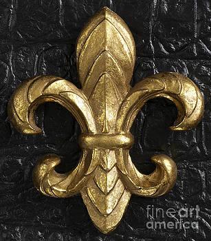 Gold Fleur-di-lis by Tony Cordoza