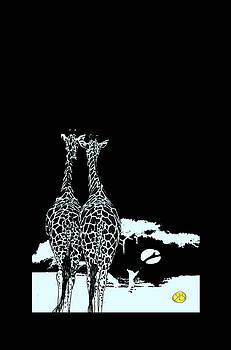 Two Giraffes Deux girafes by Robert Breton