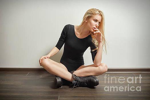 Girl In Black Bodysuit by Aleksey Tugolukov