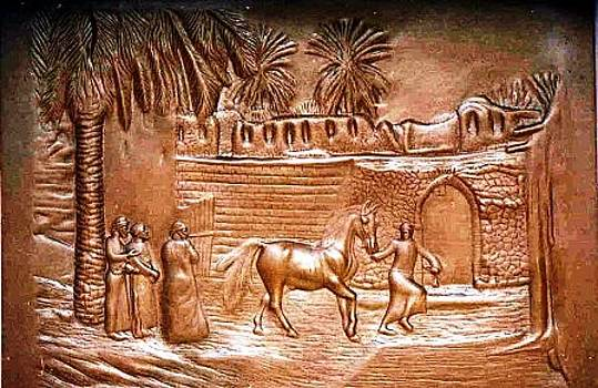 Horses Merchant by Wall sculpture artist Ahmed Shalaby