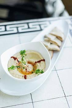 Hummus Houmous Middle East Vegetarian Chickpea Dip Snack Food by Jacek Malipan