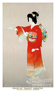 Japan Vintage Travel Poster Restored by Carsten Reisinger