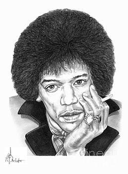 Jimi Hendrix by Murphy Elliott