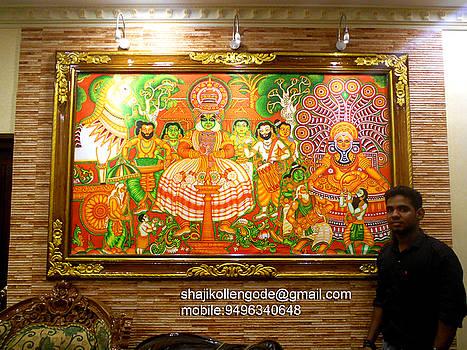 Kerala Folk- Mural Painting by Shaji Kollengode