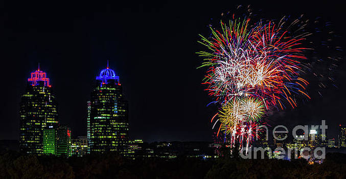 King And Queen Fireworks by Doug Sturgess
