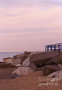 Lexington Harbor at sunset by Kathy DesJardins