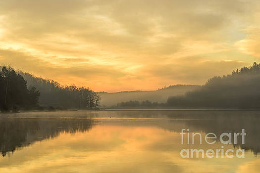 Misty Morning on the Lake by Thomas R Fletcher