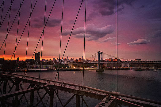 New York City - Sunset by Vivienne Gucwa