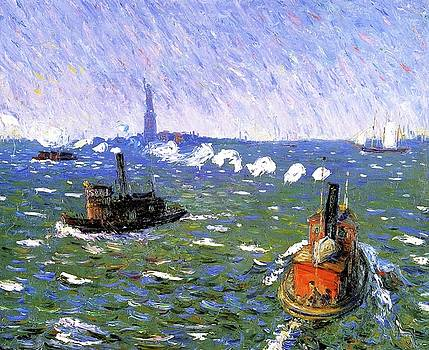 New York Harbor by William James