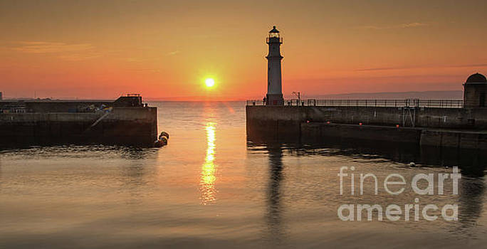 Newhaven Harbour Sunset by Keith Thorburn LRPS
