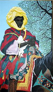 Nigerian On Horseback by Bernard Goodman