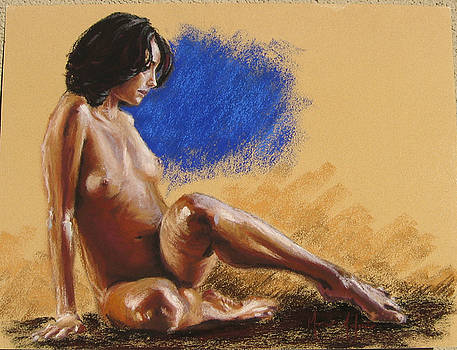 Pastel Female Nude  by Marco  Antonio