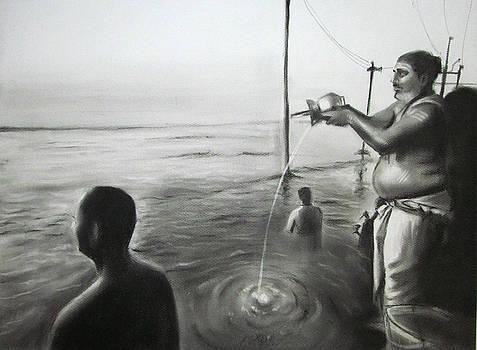 Pooja by Artist Vivekananad Patil